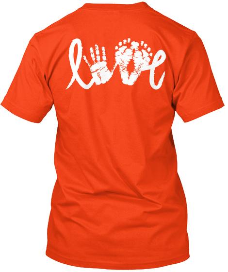 Love Deep Orange  T-Shirt Back