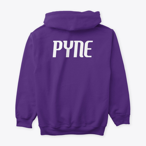 """Pyne Series"" Skyris Hoodie Purple T-Shirt Back"