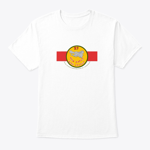 Deci Wall Art 27 Squadron 80's White T-Shirt Front