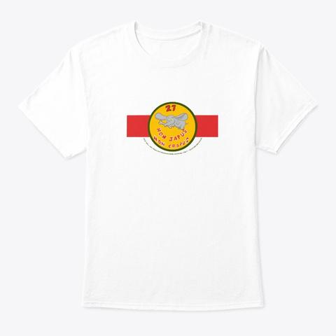 Deci Wall Art 27 Squadron 80's White T-Shirt Front