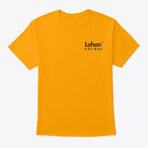 Lohan   Tops Gold T-Shirt Front