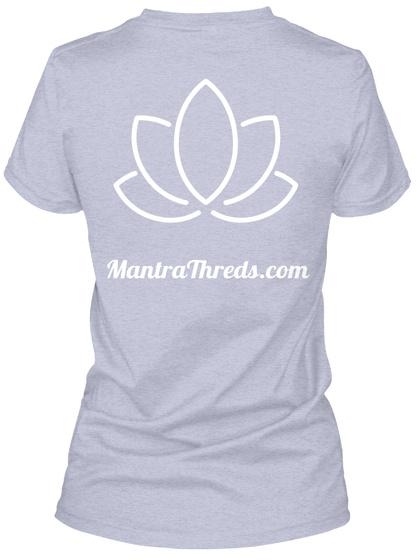 Mantrathreds.Com Heather Gray  T-Shirt Back