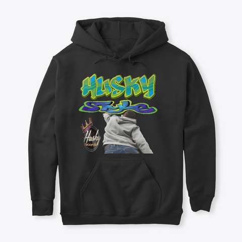The Style Husky Hoodiez And Accessories  Black T-Shirt Front