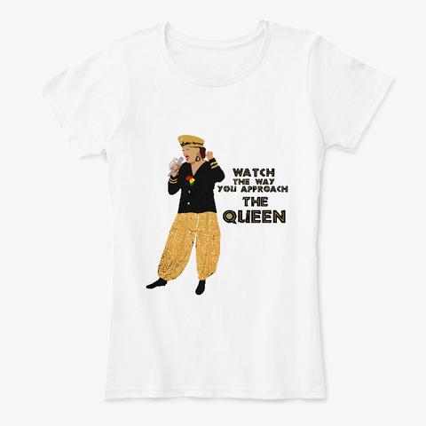 Original Queen White T-Shirt Front