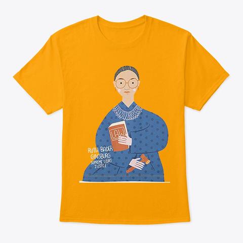 Trailblazer Ruth Bader Ginsburg T Shirt Gold T-Shirt Front