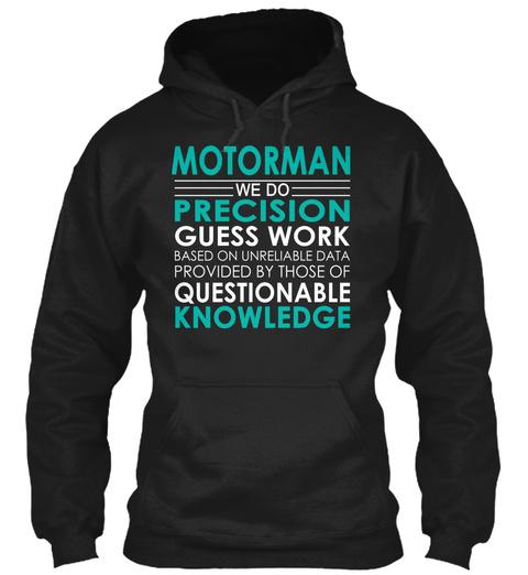 Motorman   We Do Black T-Shirt Front