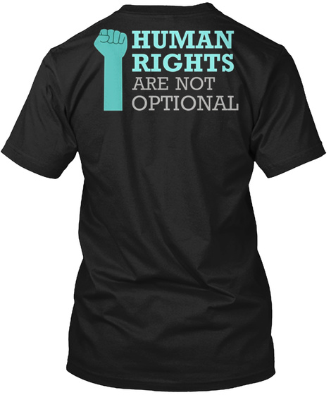 Women Rights Black T-Shirt Back