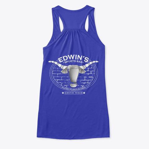 Edwin's Pours Tank True Royal T-Shirt Back