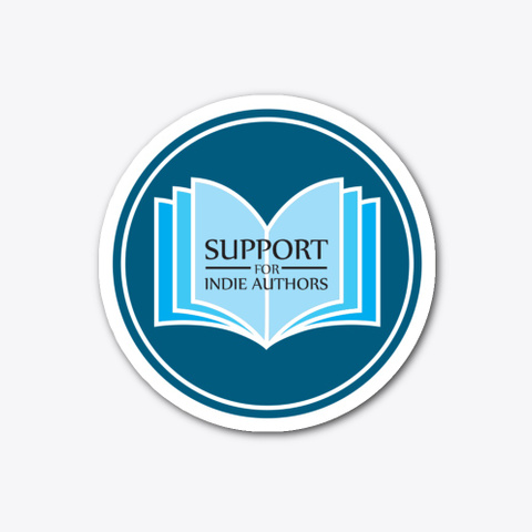 Support Indie Authors Logo Sticker Standard T-Shirt Front