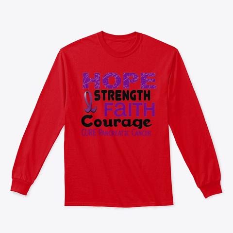 Pancreatic Cancer Awareness T Shirt Red T-Shirt Front