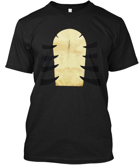 Tiger Costume Shirt Halloween T Shirt Black T-Shirt Front