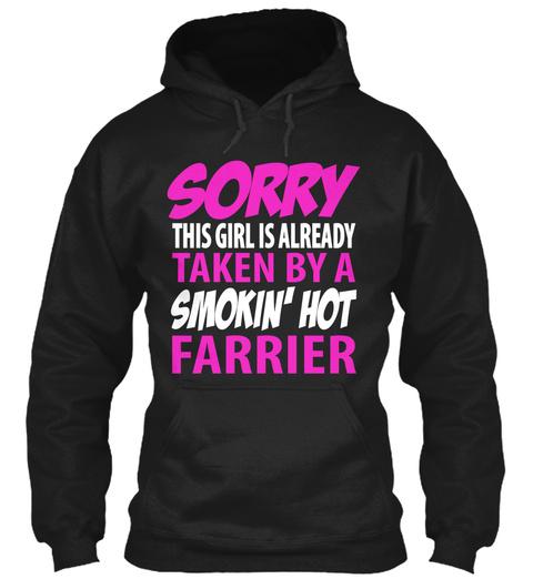 Farrier Girl Taken Black T-Shirt Front
