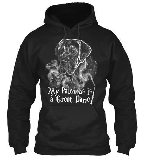 My Patronus Is A Great Dane  Black T-Shirt Front