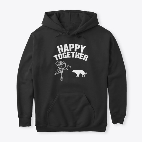 Appy Together Buryat Mongolian Wolfhound Black T-Shirt Front