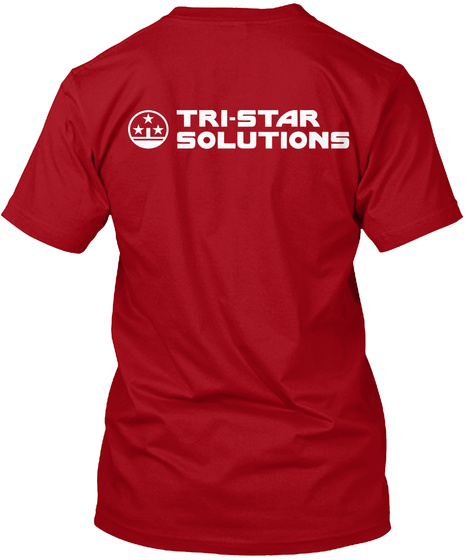 Tri Star Solutions Deep Red T-Shirt Back