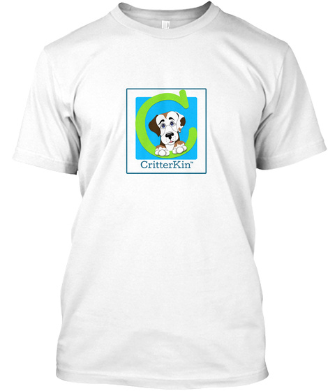 Critter Kin Adults White T-Shirt Front