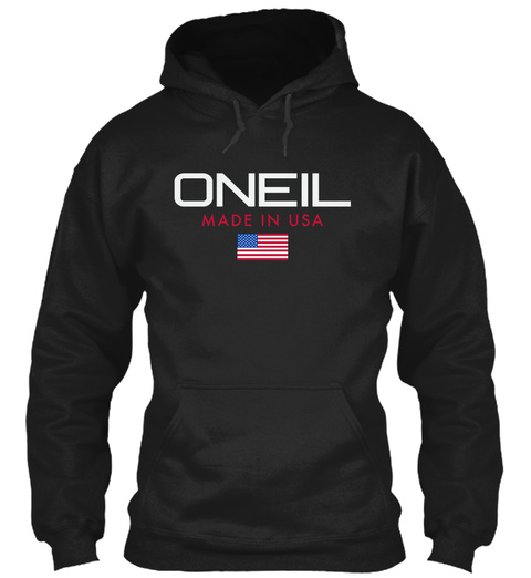 Oneil Made In Usa Black T-Shirt Front