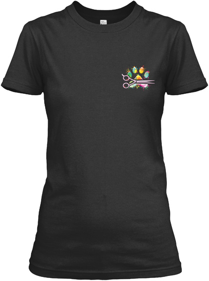 Proud Dog Groomer Shirt Black T-Shirt Front