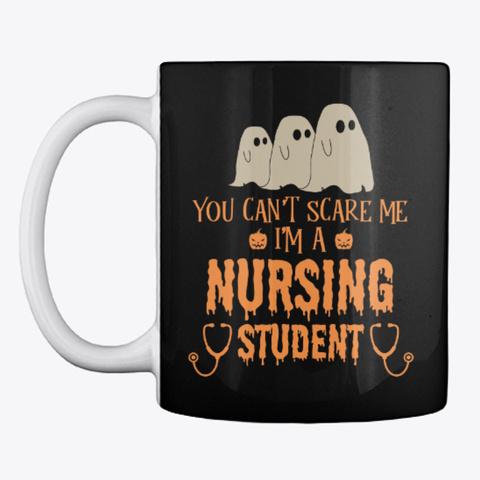 Nursing Student Halloween Mug Black Mug Front