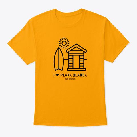 Playa Blanca Sun And Fun  Gold T-Shirt Front
