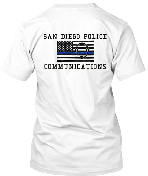 San Diego Police Communications White T-Shirt Back
