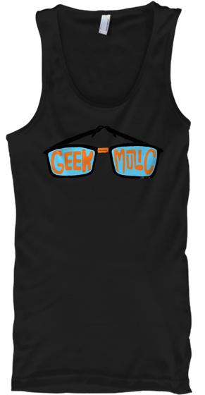 Geek Music Black T-Shirt Front