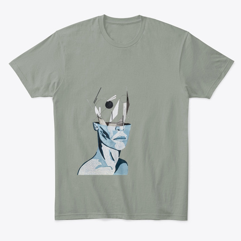 The Thinker Grey T-Shirt Front