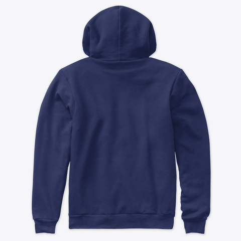 Red Zone  News Hoodie Navy T-Shirt Back