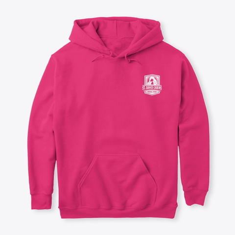 St Dane's Swag Hoodie Heliconia T-Shirt Front
