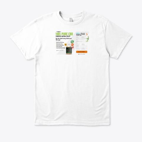 Biogold Cbd Gummies White T-Shirt Front