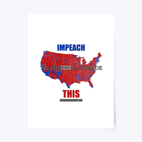 Impeach This! 2016 Election Map Standard T-Shirt Front