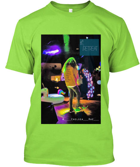 """Flow Fish"" Chelsea Rae Lime T-Shirt Front"