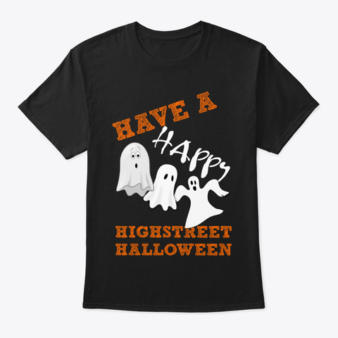 High Street Paranormal Halloween T Shirt Black T-Shirt Front