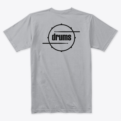 Drums Label Graphic Heather Grey T-Shirt Back