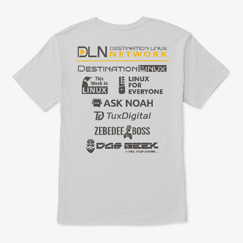 Special Edition Dln Launch T Shirt Light Steel T-Shirt Back