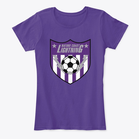 Womens Clothing Purple T-Shirt Front