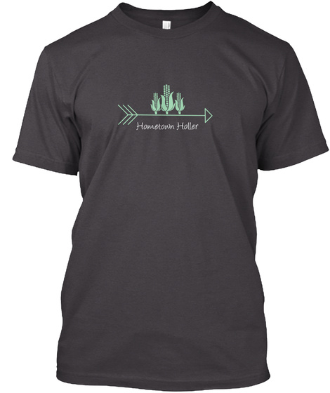 Hometown Holler Heathered Charcoal  T-Shirt Front