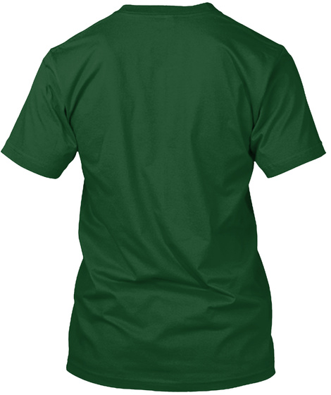 Uni Watch Color Remix: Green/Red Forest Green  T-Shirt Back