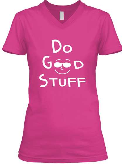 Do Good Stuff Berry T-Shirt Front
