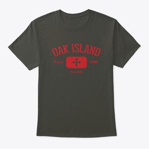 Oak Island Knights Templar Cross Design Smoke Gray T-Shirt Front