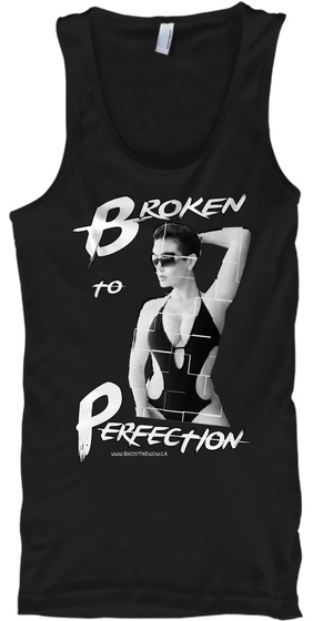 Broken To Perfection Black Tank Top Front