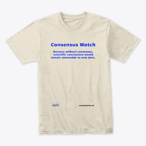 Consensus Watch Cream T-Shirt Front