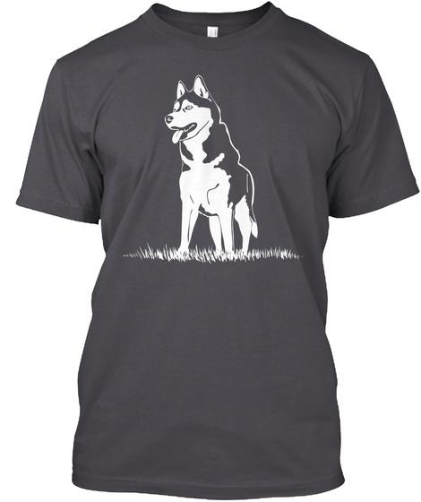 Siberian Husky So Beautiful Asphalt T-Shirt Front