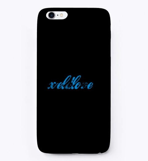 Xelf Love Phone Cover Black T-Shirt Front