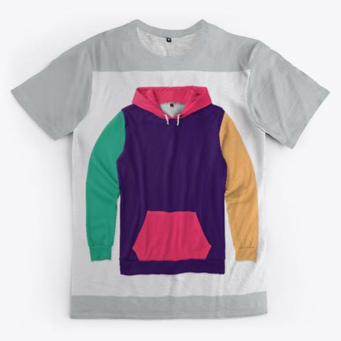 Hoodie Art Light Grey T-Shirt Front