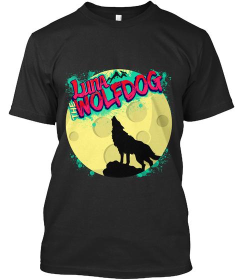 Luna Wolfdog Black T-Shirt Front
