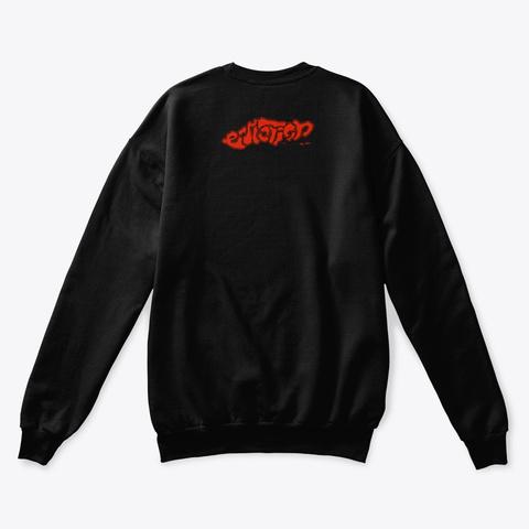 """Endlessly""   Sweater Black T-Shirt Back"