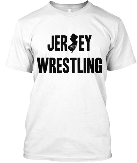 Jersey Wrestling White T-Shirt Front