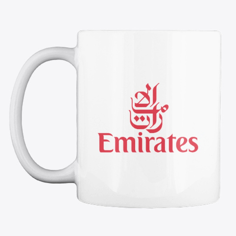 Emirates   Mug White T-Shirt Front