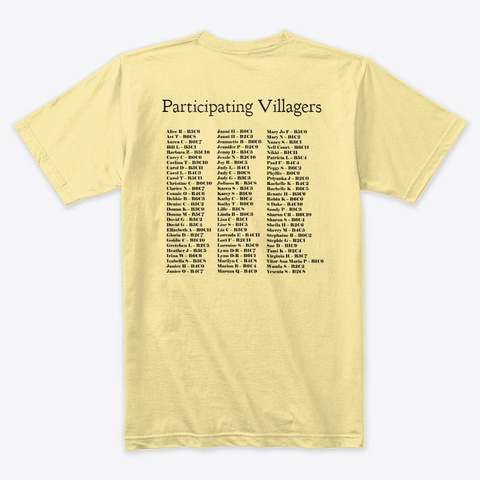 Village Of Bacarak Puzzle Products Banana Cream T-Shirt Back